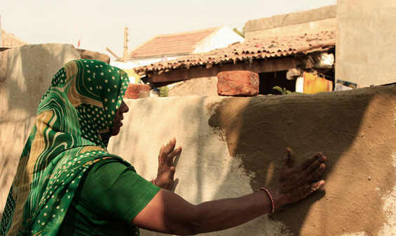 Cow dung in Housing